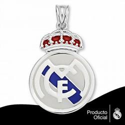 Colgante escudo Real Madrid Plata de ley esmalte grande [6802]