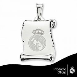 Pergamino escudo Real Madrid Plata de ley esmalte grande [6805]