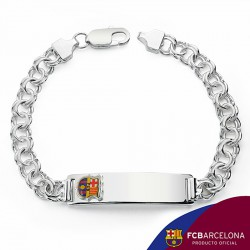 Esclava escudo F.C. Barcelona Plata de ley húngara grande [6876]