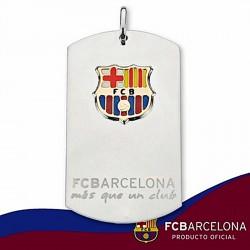 Chapa escudo F.C. Barcelona Plata de ley oro esmalte grande [6898]