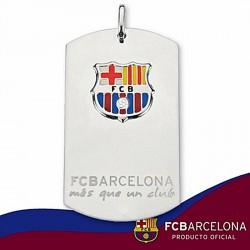 Chapa escudo F.C. Barcelona Plata de ley esmalte grande [6899]