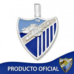 Colgante escudo Málaga CF plata de ley esmalte grande [8658]