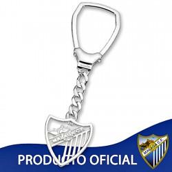 Lllavero escudo Málaga CF plata de ley calado grande [8672]