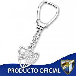 Lllavero escudo Málaga CF plata de ley calado grande [8677]