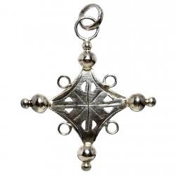 Cruz crucifijo plata Ley forma grande [1356]