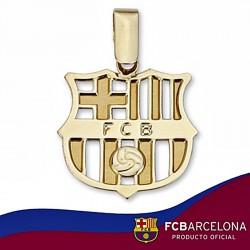 Colgante escudo F.C. Barcelona oro de ley 9k grande calado [6539]