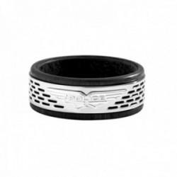 Anillo Police PJ.26467RSS-01-10 hombre Pozas Rings acero inoxidable logo combinado negro
