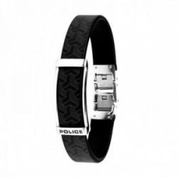 Pulsera Police S14AQU01B hombre Bracelet piel combinada acero inoxidable