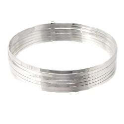Semanario plata Ley 925m mujer brazalete 65mm. liso