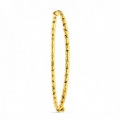 Brazalete pulsera oro 18k mujer avalada tallada detalles