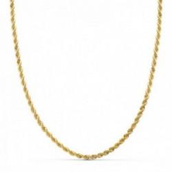 Cordón cadena oro 18k salomónico macizo 60 cm. hombre 3 mm.