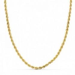 Cordón cadena oro 18k salomónico hombre 50 cm. macizo 3.5 mm.