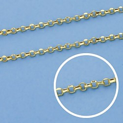 Cadena oro 9k rolo 50cm. 1,5mm. 1,85gr. [6748]