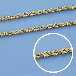 Cadena oro 9k cordón salomónico 60cm. 3mm. 4,10gr. [6750]