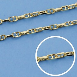 Cadena oro 9k forzada barra 45cm. 1,5mm. 1,90gr. [6771]