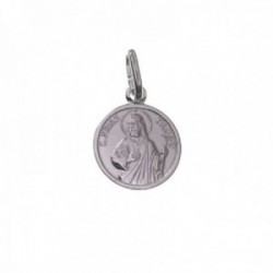 San Judas Tadeo medalla plata Ley 925m unisex 12 mm. detalles