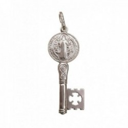 San Benito llave colgante plata Ley 925m unisex 3 cm. detalles