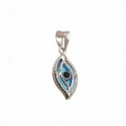 Colgante plata Ley 925m mujer 1.3 cm. ojo turco piedra