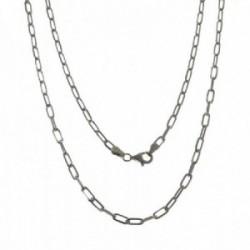 Cadena plata Ley 925m unisex 50 cm. forzada alargada mosquetón