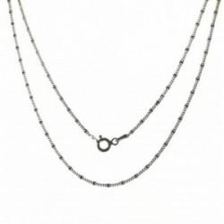 Cadena plata Ley 925m unisex 50 cm. barbada