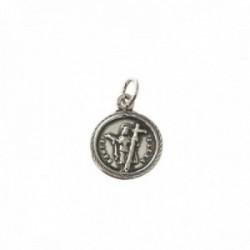 Santa Elena medalla plata Ley 925m unisex 13 mm. oxidada
