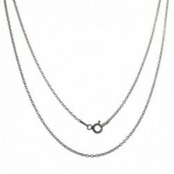 Cadena plata Ley 925m unisex 40 cm. forzada 1 mm. reasa