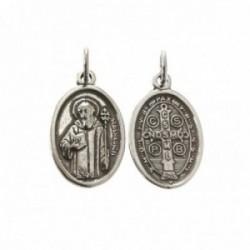 San Judas Tadeo medalla plata Ley 925m unisex 2 cm. ovalada doble cara detalles realistas