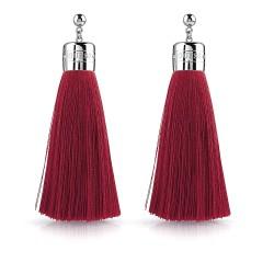Pendientes Guess mujer color vibes UBE78066 acero inoxidable 8.5 cm. Largos flecos rojos presión
