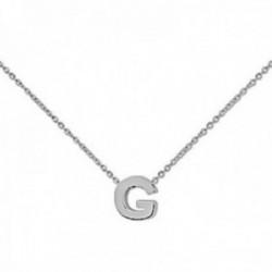 Gargantilla Elysian Joyas plata Ley 925m mujer 42.5 cm. forzada letra G 7mm. mosquetón