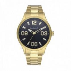 Reloj Radiant hombre RA563202 Leader Black acero inoxidable dorado