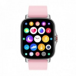 Reloj smartwatch Radiant RAS10402 Las Vegas Premium Ipsilver 45 mm. Sili Pink