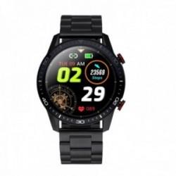 Reloj smartwatch Radiant RAS20501 Le Baron Club 45 mm. Ipblack Black Bra acero inoxidable negro