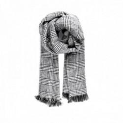 Bufanda Lola Casademunt estampada combinada cuadros color negro gris