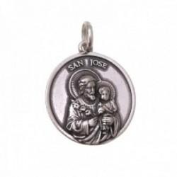 San José medalla plata Ley 925m colgante 22 mm. detalles realistas