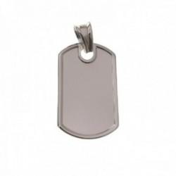 Chapa militar colgante plata Ley 925m lisa 28 mm. relieve bordes