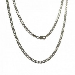 Cadena plata Ley 925m marina 80 cm. lisa mosquetón