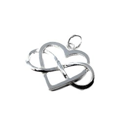 Colgante plata Ley 925m corazón infinito 31mm. calado mujer
