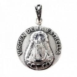 Virgen de la Estrella de Palma del Río colgante macizo plata Ley 925m unisex 24 mm. detalles asa