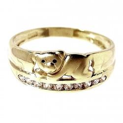 Sortija oro 18K oso circonitas mate y brillo Peso: 3,7gr. [153]