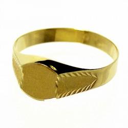 Sello oro 18k cadete estrías. Peso: 1,3gr. [158]