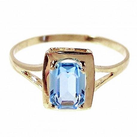 Sortija oro 18K piedra fina azul Peso: 1,4gr. [167]