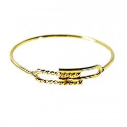 Sortija oro 18k fina adorno hilo fijo trenzado Peso: 0,4gr. [176]