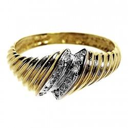 Sortija oro 18k brillante diamante 0,04ct [209]