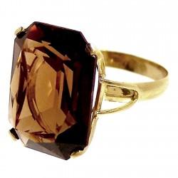 Sortija oro 18k piedra topacio Peso: 4,9gr. [219]