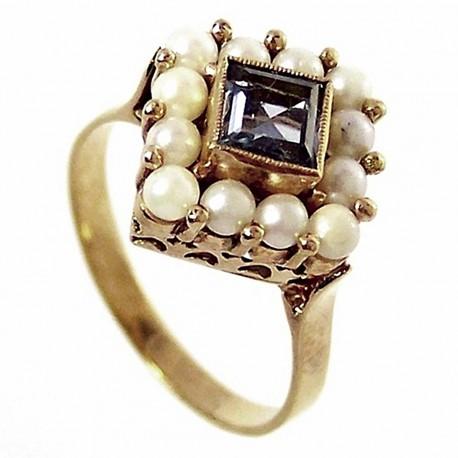 Sortija oro 18k perlas cultivadas [220]