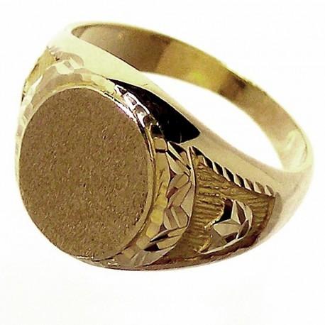Sello oro 18K caballero. Peso: 6,2gr..  [657]