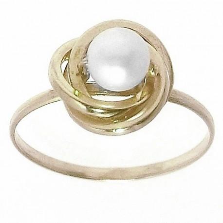 Sortija oro 18K perla cultivada nudo Peso: 0,9gr. [665]