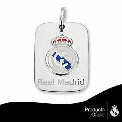 Chapa escudo Real Madrid Plata de ley pequeña esmalte [6780]