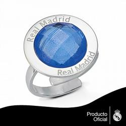 Sortija escudo Real Madrid Plata de ley mujer piedra color [6796]