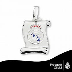 Colgante escudo Real Madrid Plata de ley mediano [6806]